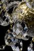 Křišťálový lustr 2patrový 8+8-ramenný 25L123CL16 68x60cm zlacený řetěz