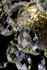 Křišťálový lustr 8-ramenný 19L096CL8 59x57cm zlacený řetěz