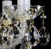 Křišťálový lustr exclusiv 6-ramenný 4L040CE6 49x46cm zlacený řetěz
