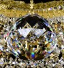 Křišťálový lustr Swarovski 12-ramenný 8LA016SW12 80x77cm zlacený řetěz