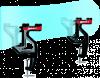Snowboardové svěráky 14005