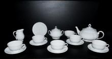 Bílá čajová souprava, porcelán Verona 15. dílná
