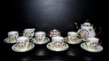 Čajová souprava Verona 15 dílná, porcelán listr 3grácie