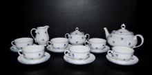 Čajová souprava Verona 673 15 dílná, porcelán modrá házenka