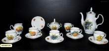 Kávová souprava Bernadotte, dekor ovoce 15-dílná