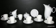 Kávová souprava Future, bílý porcelán, 15-dílná