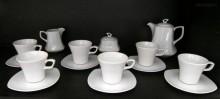 Kávová souprava Gama, bílý porcelán, 15d.