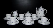 Kávová souprava Verona 673 15 dílná, porcelán modrá házenka