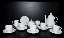 Kávová souprava Verona, bílá kávová souprava 15 dílná.
