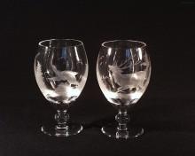 Pivní pohár křišťál jelen ptáci 350 ml. 2ks 10119/00001/350PJ