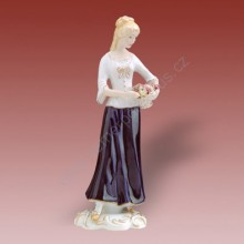 Porcelánová soška - Dívka s hrozny 22225 isis