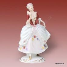 Porcelánová soška - Dívka s vějířem 139 saxe
