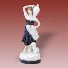 Porcelánová soška - Dívka se džbánem a ovečkou  02262 isis
