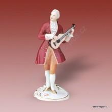 Porcelánová soška - Hudebník rokoko 3728 saxe
