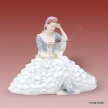 Porcelánová soška - Slečna s knihou 175 luxor