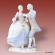 Porcelánová soška - Taneční pár rokoko 141 luxor