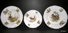 Porcelánová talířová souprava Bernadotte myslivecká 1011 18d.