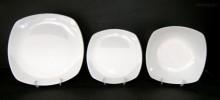 Sada talířů Gama, bílý porcelán, 18d.