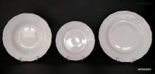 Sada talířů Verona, bílý porcelán 18 dílná.