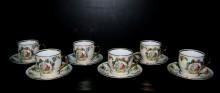 Šálek s podšálkem čajový, porcelán tři grácie, tvar Verona 6 ks