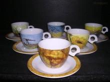 Šálek s podšálkem Dova Van Gogh 140 mm. 6ks