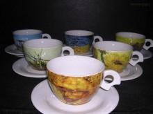 Šálek s podšálkem Dova Van Gogh 175 mm. 6ks