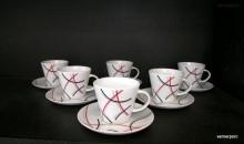 Šálek s podšálkem na čaj, Tom 5500 6ks