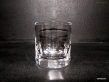 Sklenice Whisky křišťálová ručně broušené plochy 300 ml. 6ks.