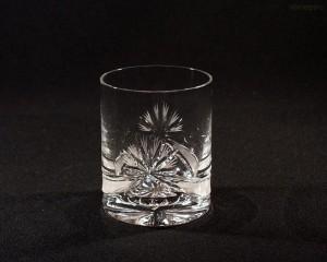 Sklenice křišťálová broušená whisky mašle 320 ml. 6 ks