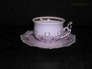 Čajový šálek s podšálkem Lenka