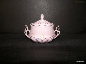 Cukřenka Lenka z růžového porcelánu 247