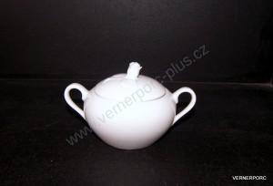 Cukřenka s růžičkou 0,3l. bílý porcelán