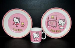 """Dětská souprava, dekor """"Hello Kitty"""" růžová 3 dílná"""