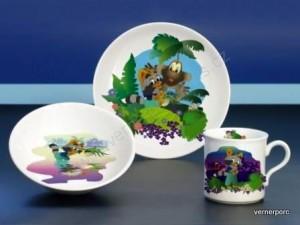 Dětský porcelán Viola 022 3dílný