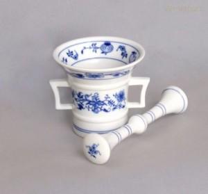 Hmoždiř z cibulového porcelánu