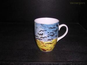 """Hrnek Eva van Gogh """"Pšeničné pole s havrany"""" 0,25 l."""