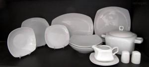 Jídelní souprava Gama, bílý porcelán, 28 dílná