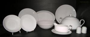 Jídelní souprava Viola 28 dílná bílý porcelán