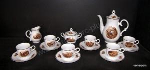 Kávová souprava Ofelie 788 myslivecké motivy 15d.