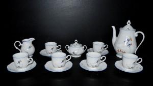 Kávová souprava, porcelán husy, tvar Verona