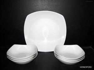 Kompotová souprava Gama, bílý porcelán, 7-dílná