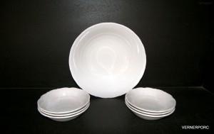 Kompotová souprava Verona, bílý porcelán 7 dílný