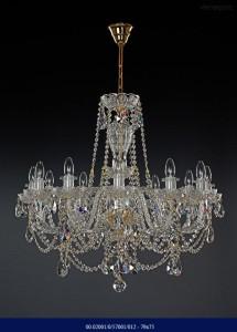 Křišťálový broušený lustr 12-ramenný 02001/57001/012-79*75 79x75cm