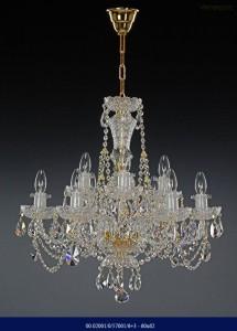 Křišťálový broušený lustr 6+3-ramenný 02001/57001/6+3 60x62cm