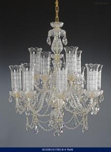 Křišťálový broušený lustr 8+4-ramenný 02001/57001/8+4 79x96cm