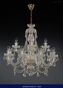 Křišťálový broušený lustr 8+4ramenný 02001/57001/8+4 78x74cm