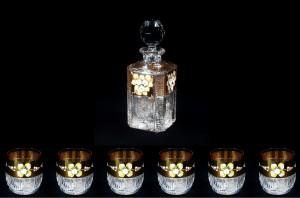 Křišťálový broušený set na rum 57011 7 dílný.
