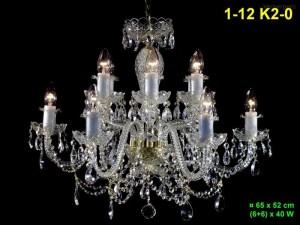 Křišťálový lustr 12-ramenný 1-12 K2-0 65x52cm