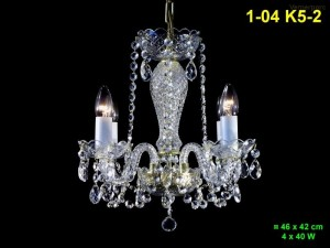 Křišťálový lustr 4-ramenný 1-04 K5-2 46x42cm