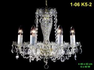 Křišťálový lustr 6-ramenný 1-06 K5-2 46x42cm